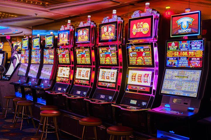 slot machine bank in a casino