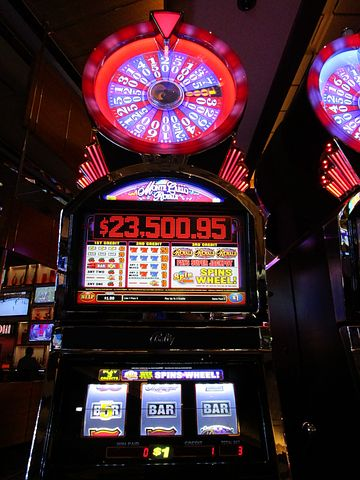 Slot machine in a casino with Jackpot